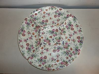 ERPHILA DORSET CHEERY CHINTZ Floral Pattern Ceramic Round 5 Part Relish Tray