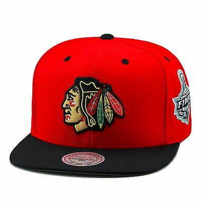 Mitchell & Ness Chicago Blackhawks Snapback Hat RED/BLACK/2010 Stanley Cup Final
