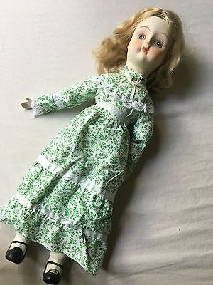 """Reproduction of Antique Girl  Doll - 17"""" tall"""