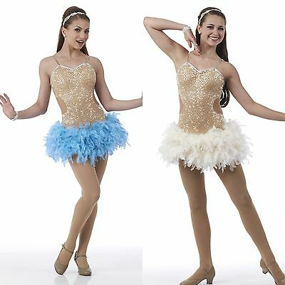J'Adore Dance Costume Feather Sequin Chicago Flapper Christmas Dress Ballet Tap