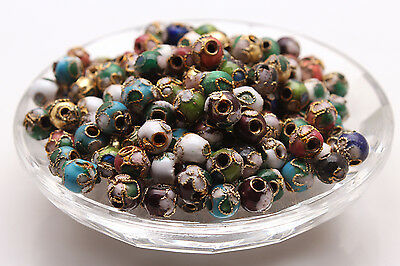Wholesale Cloisonne Enamel Round Ball spacer loose Beads Jewelry Making