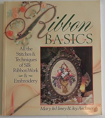 Letter & Floral Embroidery Pattern Book RIBBON BASICS Mary Jo Hiney  Joy Anckner