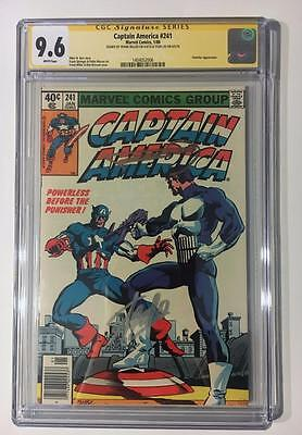 Captain America #241 Ss Cgc 9.6 Stan Lee Frank Miller Punisher