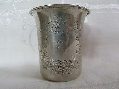 Antique Silver 750 Christening Mug Beaker 1873 Danish Denmark Germany German ?