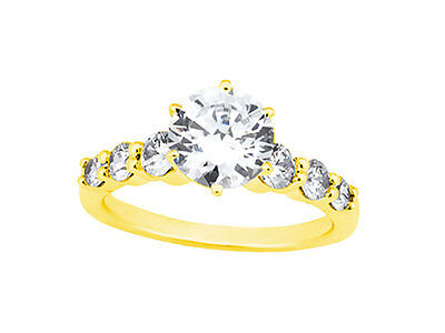 Natural 0.90Ct Round Cut Diamond Bridal Engagement Ring Solid 10k Gold KL I1