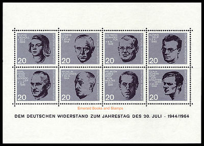 EBS Germany 1964 Attempt on Hitler Miniature Sheet Michel Block 3 MNH**