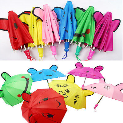 Kids Boy Girls Mini Animal Ears Cartoon Dance Lovely Small Umbrella Gift Toys UK