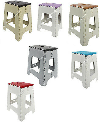 Plastic Folding Step Stool Multi Purpose Kids Chair Foldable Ladders Large Small