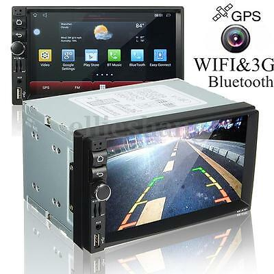 Bluetooth 7'' Autoradio Wifi Android 4.4.4 GPS MP5 3G Stereo DVD VCD Player 2DIN