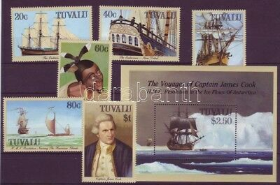 Tuvalu stamp Captain Cooks Travels+block 1988 MNH Mi 511-516+33 WS216531