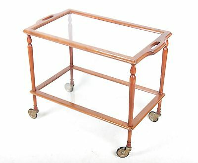 Trolley Mahogany Glass Antique Reproduction Fine Quality Hostess Trolley Tray on