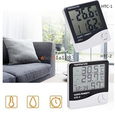 LCD Outdoor Indoor HTC-2 HTC-1 Thermometer Hygrometer Temperature Humidity Meter