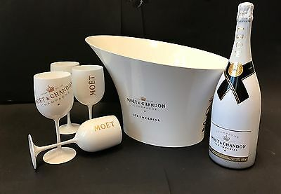 Moët & Chandon Ice Impérial Champagne Set 1,5 Magnum + Kühler + 4 Becher 12% Vol