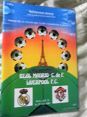 1981 European Cup Final Real Madrid V Liverpool