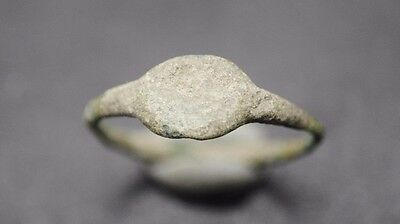 Ancient Roman Bronze Finger Ring 1St - 3Rd Century Ad,