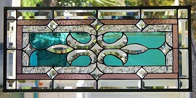 """Stained Glass Window Hanging 26 X 12"""""""