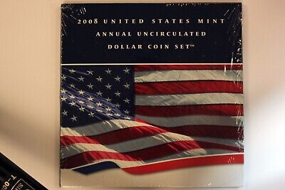 2008 United States Mint Annual Uncirculated Dollar Coin Set Mint Sealed -NUM2564