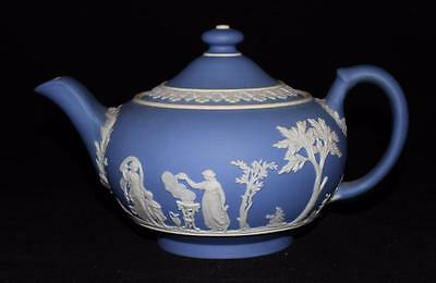 Wedgwood Jasperware Mini Tea Pot Sacrifice & Cupid Light or Pale Blue (Lavender)