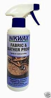 NIKWAX FABRIC & LEATHER PROOF SPRAY ON 300ml WATERPROOFER