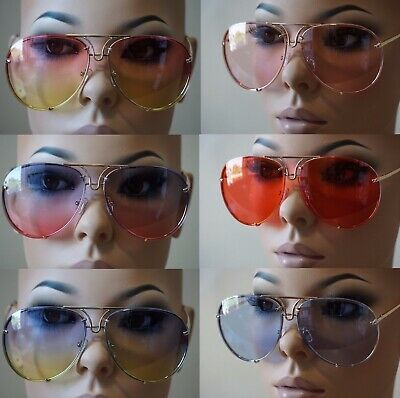 Men or Women OVERSIZED CLASSIC VINTAGE RETRO AVIATOR Style SUNGLASSES Gold Frame