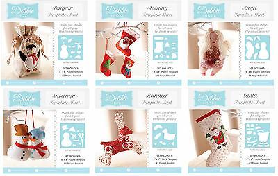 """Debbie Shore 8""""x8"""" Template Sheet & Project Booklet Xmas Crafters Companion"""