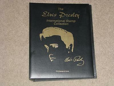 Elvis Presley Int. Stamp collection Album, with Elvis Forever Sheet & others