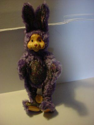 Robert Raikes Signed Paisley Easter Rabbit 2000 Very Groovey Retro
