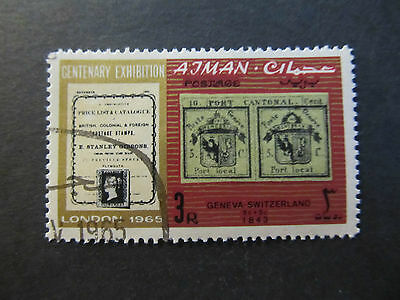 1965 - Ajman - First Edition Of Stanley Gibbons Catalogue - Scott 43 A4 3L