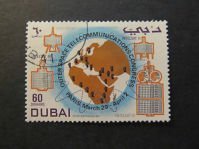 1971 - Dubai - Map With Tracking Stations Satellites - Scott 146 A27 60D
