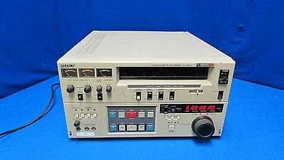 """Sony VO-9850  3/4"""" UMatic SP Videocassette Recorder Working w/ Time Code Reader"""
