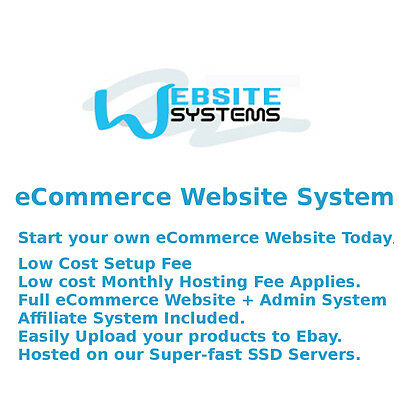 Website Systems™ 5GB SSD eCommerce Website - Create your Online Shop Today £25/m