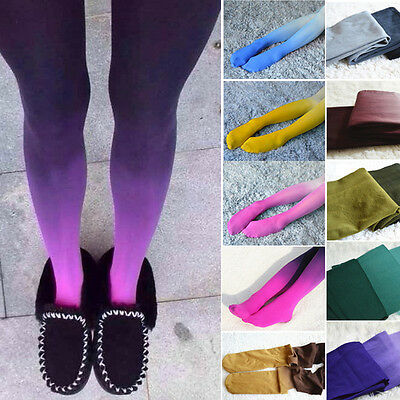 New Fashion Women Harajuku Colors Gradient Tights Velvet Stocking Pantyhose