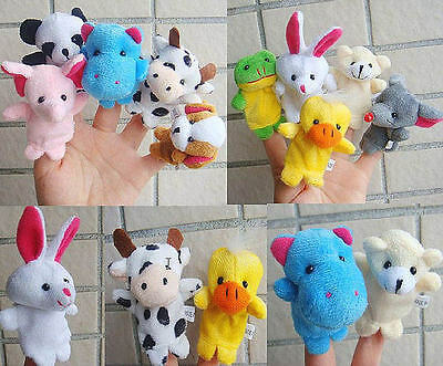 10Pcs/set Cartoon Animal Finger Puppet Plush Toys Child Kids Baby Gifts