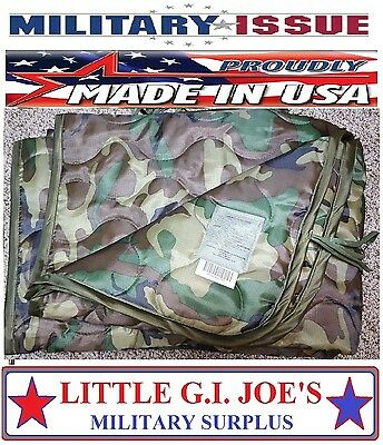 NEW Military Issue Army & USMC Woodland Camouflage Poncho Liner Woobie Blanket