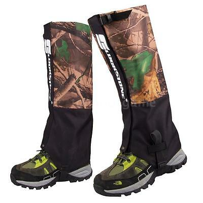 2 Pcs 2 Layers Waterproof Hiking Hunting Camouflage Gaiters Outdoor Camping X6G6