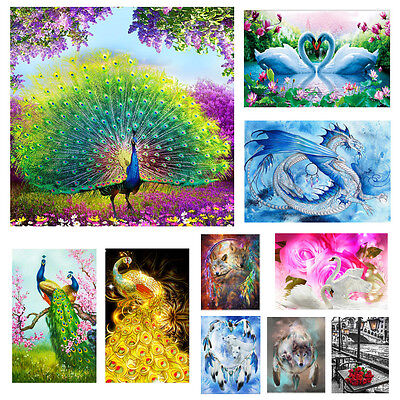 5D Embroidery Paintings Rhinestone Pasted DIY Diamond Cross Stitch Home Decor UK