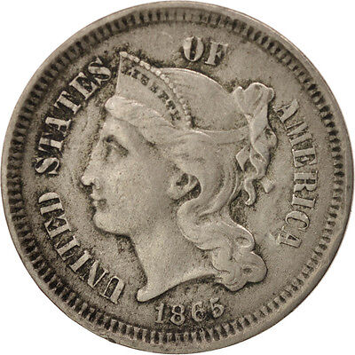 [#97776] United States, Nickel 3 Cents, 1865, U.S. Mint, Philadelphia