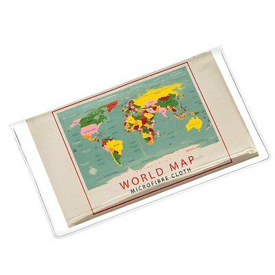 dotcomgiftshop WORLD MAP GLASSES CLEANING CLOTH