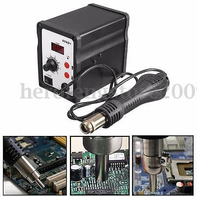 858D+ Hot Air Heat SMD Soldering Welding Rework Station + Handle + 3 Nozzles New