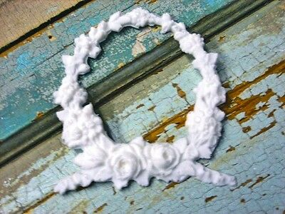 SHABBY n CHIC ROSE WREATH FURNITURE APPLIQUE ONLAY  #1 DEALER !