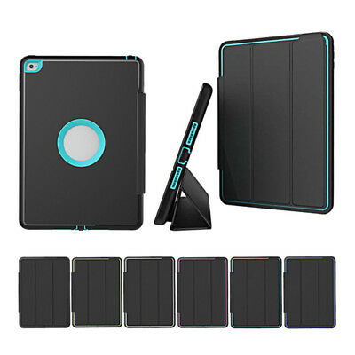 AUS Shockproof Heavy duty Hard Case Smart Cover for Apple iPad 234 mini Air Pro