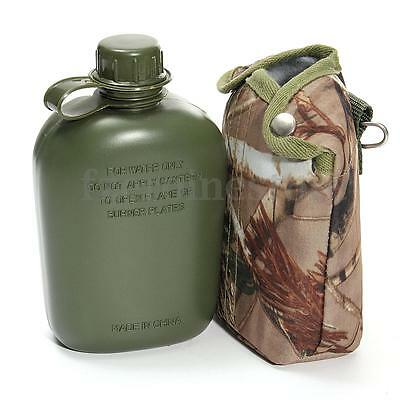 1L British Army Style Military Patrol Water Bottle Canteen Camo Camping Hiking