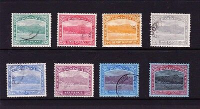 Dominica 1921-22 Complete Set Sg 62-70 Fine Used.