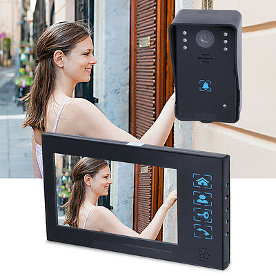 "7"" HD Video Infrared Intercom Home Entry Security Doorbell System Camera Monitor"