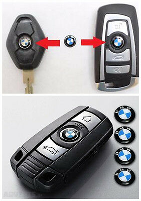 4 X Replacement 11MM BMW Remote Key Decal Fob Logo Badge Emblem Stickers