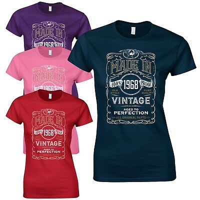 51st Birthday Gift Present Programmed In Year 1968 Womens Heather T-Shirt Top
