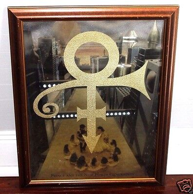 "Prince RARE Promo Only Dofex Poster for ""Love Symbol"" Framed 27x21"