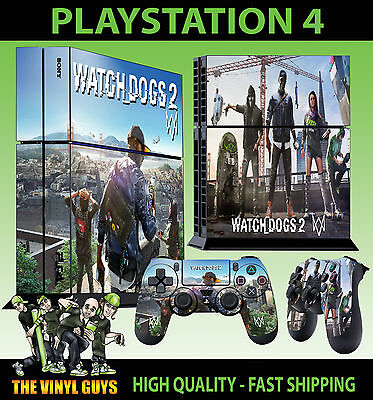 PS4 Skin Watch Dogs 2 City Hacker Marcus Sticker New + 2 Pad decal Vinyl STOOD