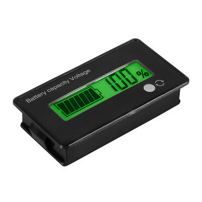LCD 12V 24V 36V 48V Lead-Acid Battery Status Voltmeter Monitor Meter Car TE620