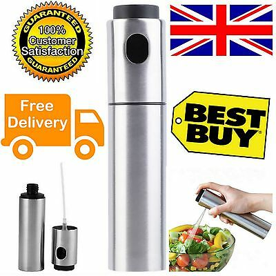 Stainless Steel Olive Oil Bottle Mister Spray Spraying Sprayer Pot Cooking Tool